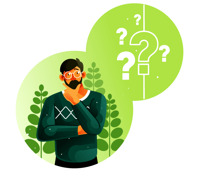 Man wondering and asking questions