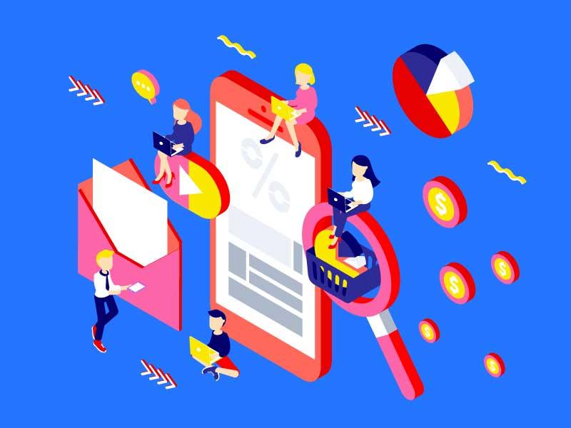 Marketing team illustration